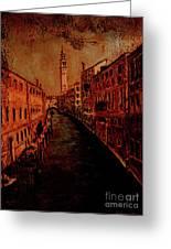Venice In Golden Sunlight Greeting Card