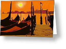 Venice In Orange Greeting Card