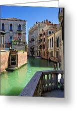 Venice Italy Canal And Lovely Old Houses Greeting Card