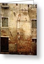 Venice Italy Crumbling Stucco Wall Greeting Card