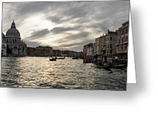 Venice Italy - Pearly Skies On The Grand Canal Greeting Card