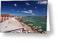 Venice Lagoon Panorama - Bird View Greeting Card