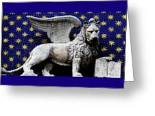 Venice Lion Greeting Card