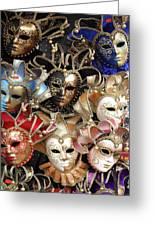 Venice Masks Greeting Card