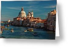 Venice Morning Traffic Greeting Card