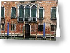 Venice Old Palace Greeting Card by Julian Perry