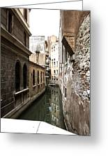 Venice One Way Street Greeting Card by Milan Mirkovic