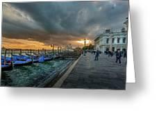 Venice Promenade Greeting Card