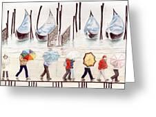Venice Rain Greeting Card