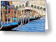 Venice Sunny Rialto Bridge Greeting Card