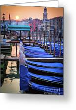 Venice Sunrise Greeting Card by Inge Johnsson