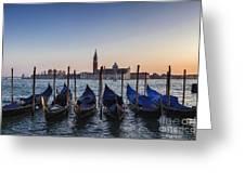 Venice - Sunset Greeting Card