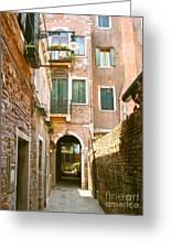 Venice- Venezia-calle Veneziana Greeting Card by Italian Art