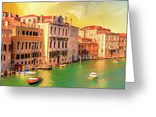 Venice Water Taxis Greeting Card