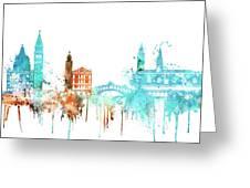 Venice Watercolor Skyline Greeting Card