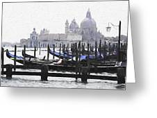Venice Waterfront Greeting Card
