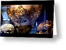 Venician Masks Greeting Card