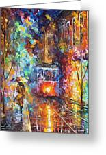 vening Trolley  Greeting Card