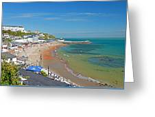 Ventnor Beach And Seafront Greeting Card