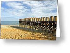Ventnor Beach Groyne Greeting Card