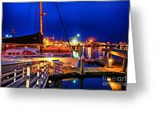 Ventura Harbor At Night Greeting Card