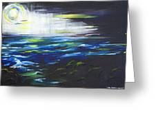 Ventura Seascape At Night Greeting Card