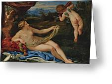 Venus And Cupid Greeting Card