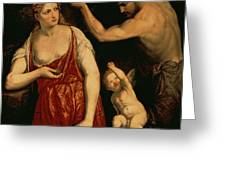 Venus And Mars Greeting Card
