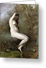Venus Bathing Greeting Card