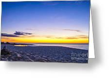 Venus Setting Above Keiki Beach At Dusk Greeting Card