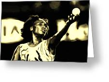 Venus Williams Match Point Greeting Card
