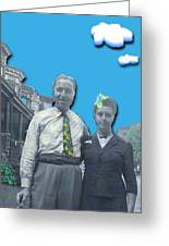 Vera And Al As The Simpsons Greeting Card