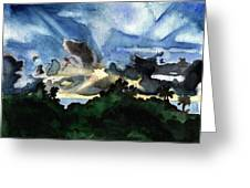 Veradero Sunset Greeting Card