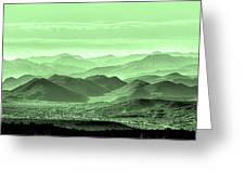 Verdant Hills Of The Tonto Greeting Card