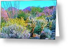 Verdant Spring Mohave Desert Greeting Card