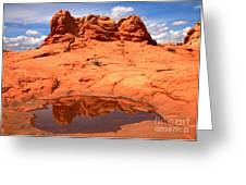 Vermilion Cliffs Reflections Greeting Card