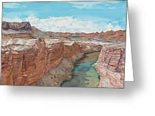 Vermilion Cliffs Standing Guard Over The Colorado Greeting Card
