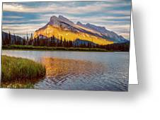 Vermillion Lakes And Mt Rundle II Greeting Card
