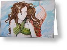 Vermillion Mermaid Greeting Card