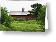 Vermont Barn With Tire Swing Greeting Card