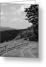 Vermont Countryside 2006 Bw Greeting Card