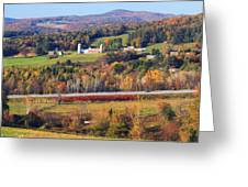 Vermont Countryside View Pownal Greeting Card
