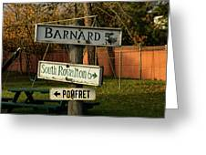 Vermont Crossroads Signs Greeting Card