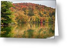 Vermont Fall Foliage Reflected On Pogue Pond Greeting Card