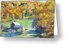 Vermont Farm Greeting Card by Lyn Vic