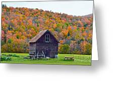 Vermont Garden Shed In Autumn Greeting Card
