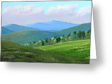 Vermont Pastures Greeting Card