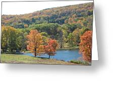 Vermont Pond Greeting Card by Lyn Vic