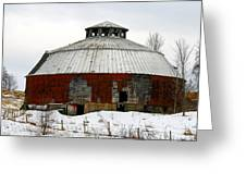 Vermont Round Barn Greeting Card