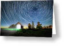 Vermont Starry Night Greeting Card